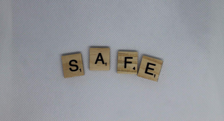 Scrubble tile that spelled SAFE