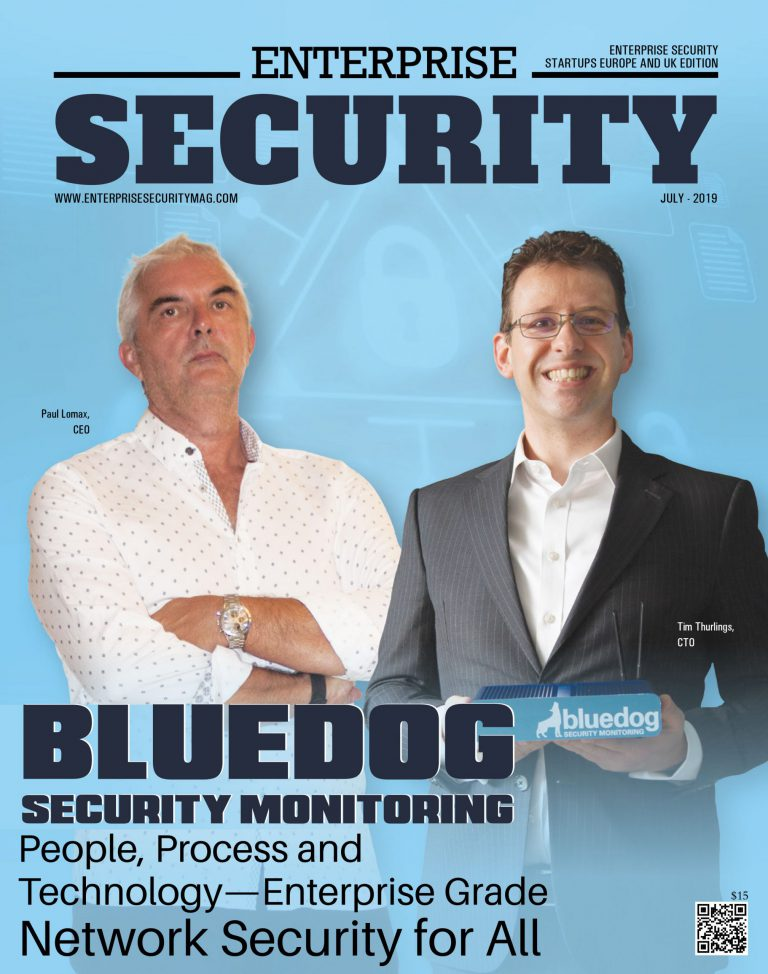 Front page of enterprise security featured bluedog security monitoring